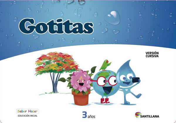 Imagen de CARPETA GOTITAS 3 AÑOS CURSIVA SABER HACER